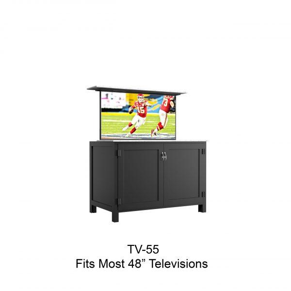 "55"" tv lift cabinet"