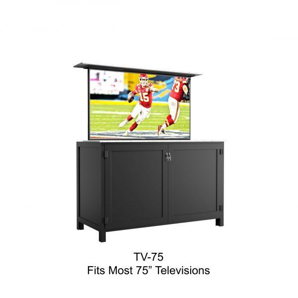 "75"" tv lift cabinet"